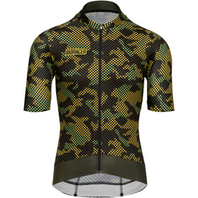 Bioracer Epic SS Jersey Men, camo olive yellow